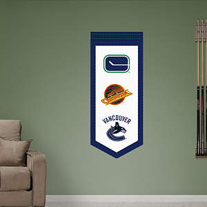 Vancouver Canucks Logo Evolution Banner Fathead Wall Decal